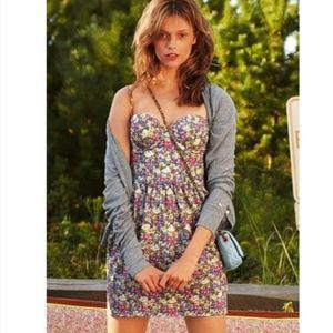 PINK VS floral bustier, corset skater floral dress